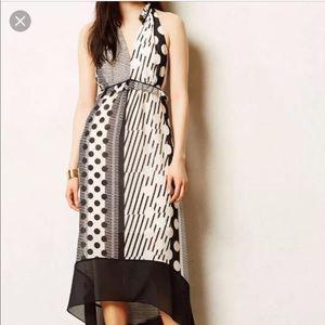 Anthropologie Maeve Channeled Dot Chiffon Dress 6